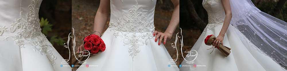 لباس عروس یقه رومی